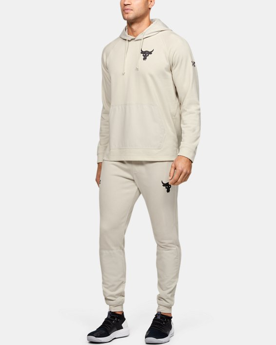 Men's Project Rock Terry Joggers, White, pdpMainDesktop image number 1