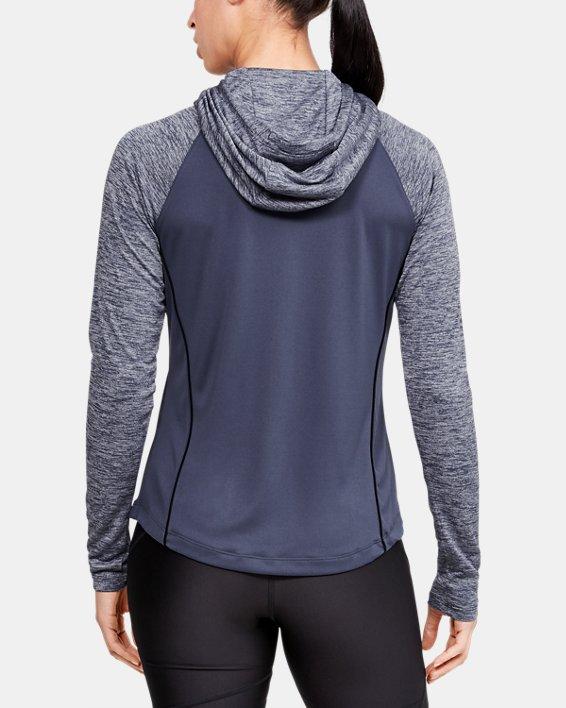 Women's UA Velocity hoodie, Blue, pdpMainDesktop image number 2