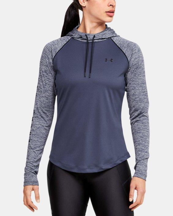 Women's UA Velocity hoodie, Blue, pdpMainDesktop image number 0