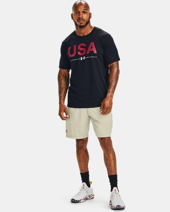 Men's UA Upstream Camo USA Short Sleeve, Navy, pdpMainDesktop image number 0