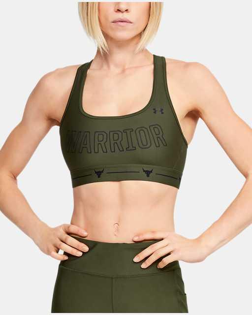 Women's Project Rock Armour® Mid Crossback Warrior Sports Bra