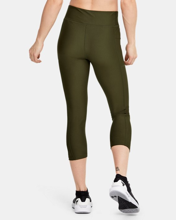 Women's Project Rock HeatGear® Armour Warrior Ankle Crop, Green, pdpMainDesktop image number 2