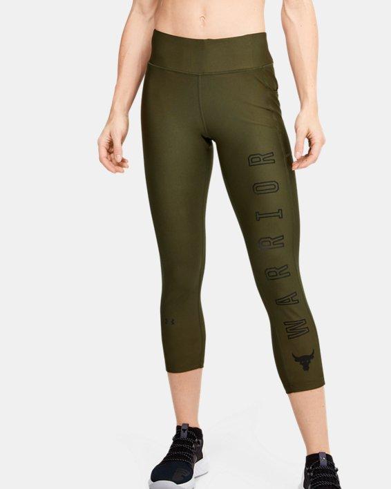 Women's Project Rock HeatGear® Armour Warrior Ankle Crop, Green, pdpMainDesktop image number 1