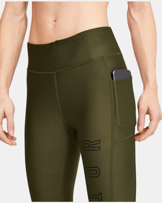 Women's Project Rock HeatGear® Armour Warrior Ankle Crop, Green, pdpMainDesktop image number 5