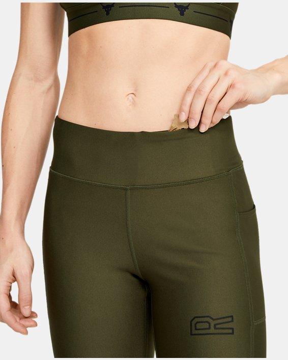 Women's Project Rock HeatGear® Armour Warrior Ankle Crop, Green, pdpMainDesktop image number 6