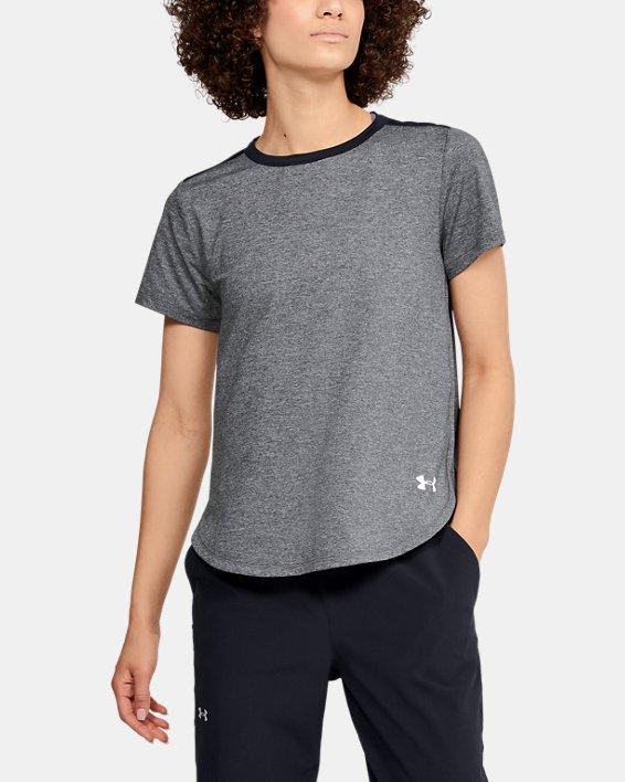 T-shirt à manches courtes UA Armour Sport Crossback pour femme, Black, pdpMainDesktop image number 2