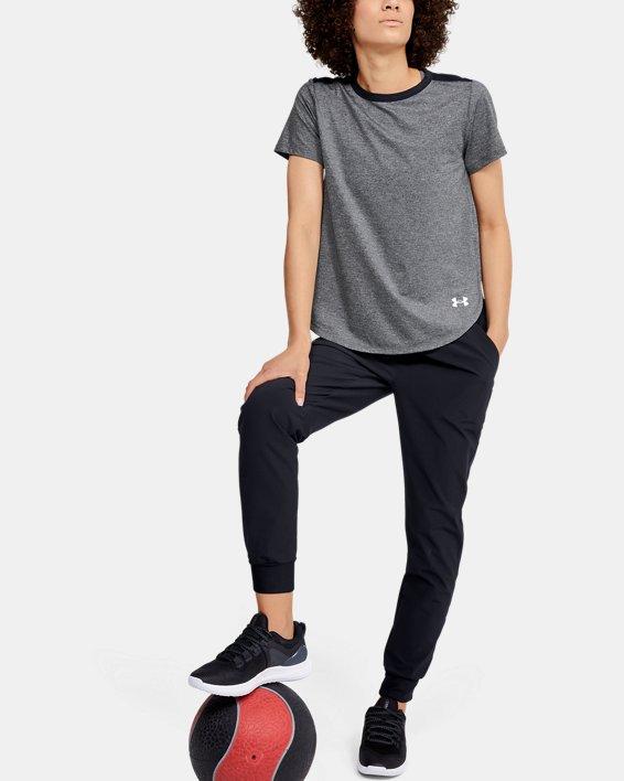 T-shirt à manches courtes UA Armour Sport Crossback pour femme, Black, pdpMainDesktop image number 1