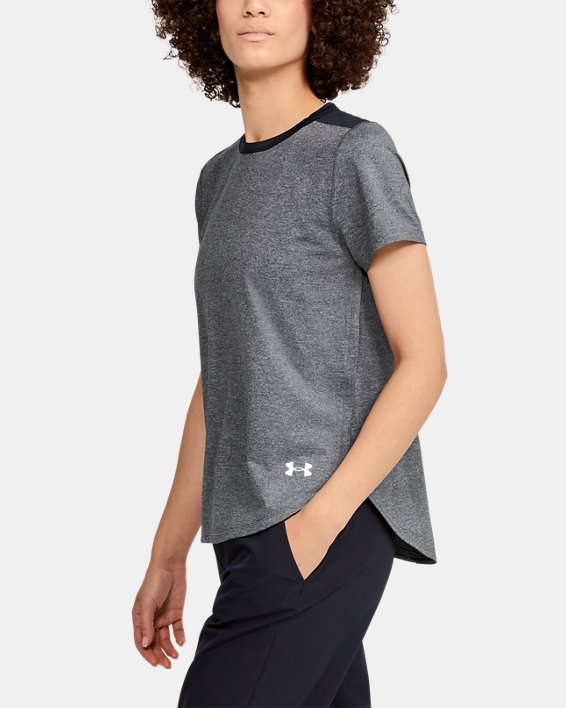 T-shirt à manches courtes UA Armour Sport Crossback pour femme, Black, pdpMainDesktop image number 3