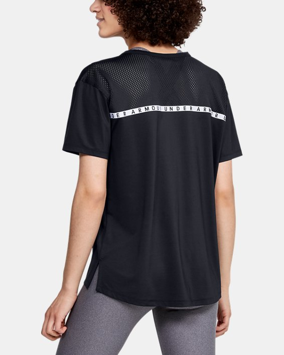 Women's UA Armour Sport Oversized Short Sleeve, Black, pdpMainDesktop image number 3