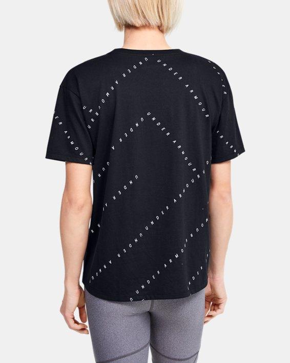 Women's UA Logo Print Live Short Sleeve, Black, pdpMainDesktop image number 2