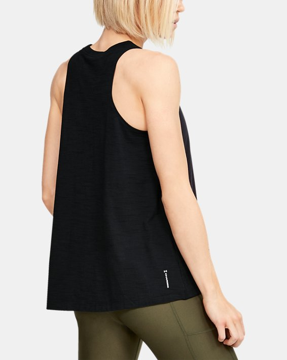 Women's Project Rock Charged Cotton® Tank, Black, pdpMainDesktop image number 2