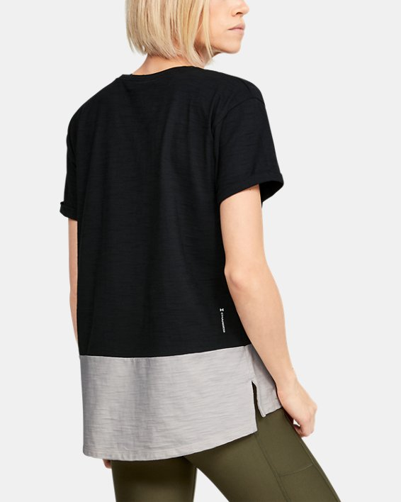 Women's Project Rock Charged Cotton® Short Sleeve, Black, pdpMainDesktop image number 2