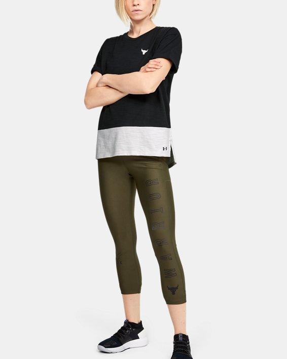 Women's Project Rock Charged Cotton® Short Sleeve, Black, pdpMainDesktop image number 1