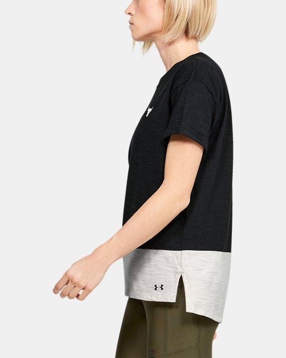 Women's Project Rock Charged Cotton® Short Sleeve, Black, pdpMainDesktop image number 3