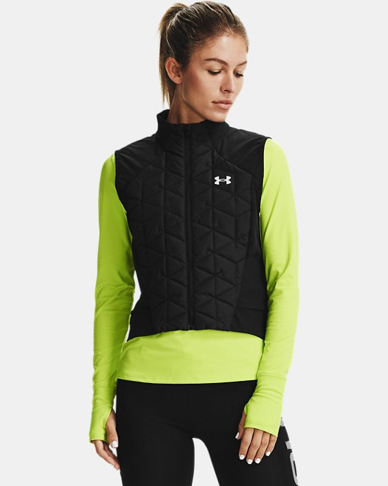 Women's ColdGear® Reactor Run Vest, Black, pdpMainDesktop image number 0