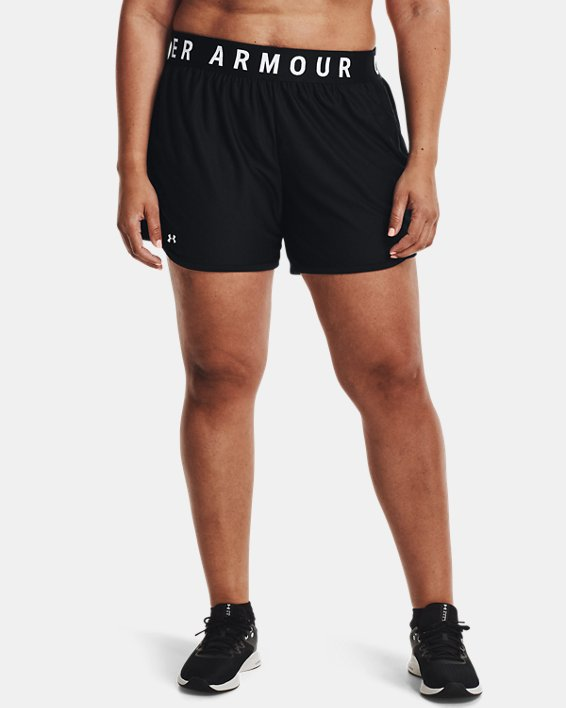 UA Play Up Shorts 5 inch&, Black, pdpMainDesktop image number 1