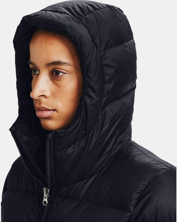Women's UA Sportstyle Graphic Bench Coat, Black, pdpMainDesktop image number 5