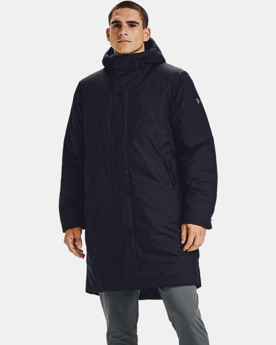 Men's UA Armour Insulated Bench Coat, Black, pdpMainDesktop image number 0