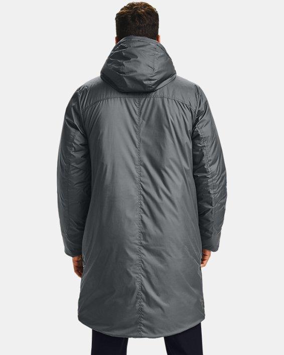 Men's UA Armour Insulated Bench Coat, Gray, pdpMainDesktop image number 2