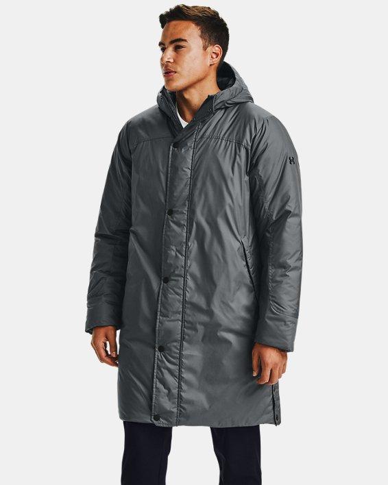 Men's UA Armour Insulated Bench Coat, Gray, pdpMainDesktop image number 0