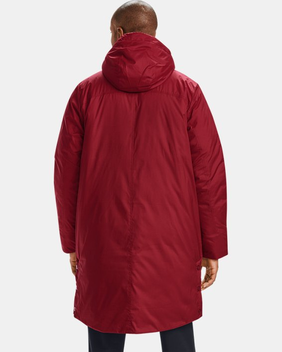 Men's UA Armour Insulated Bench Coat, Red, pdpMainDesktop image number 2