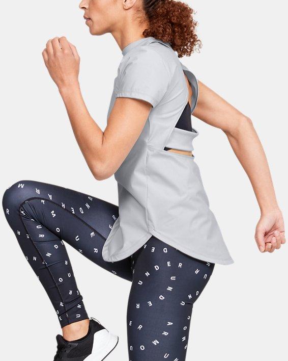 Women's UA Breathelux Stretch Open Back Short Sleeve, Gray, pdpMainDesktop image number 0
