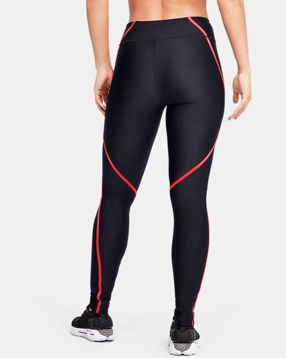 Women's HeatGear® Armour Shine Edgelit Leggings, Black, pdpMainDesktop image number 3