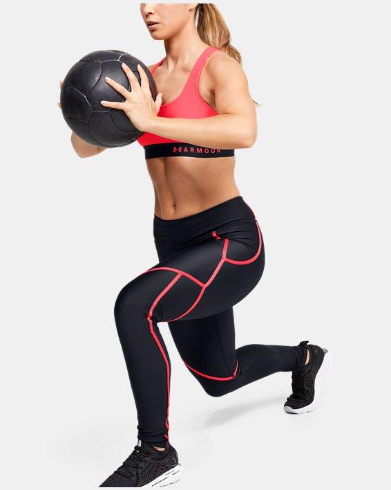 Women's HeatGear® Armour Shine Edgelit Leggings, Black, pdpMainDesktop image number 1