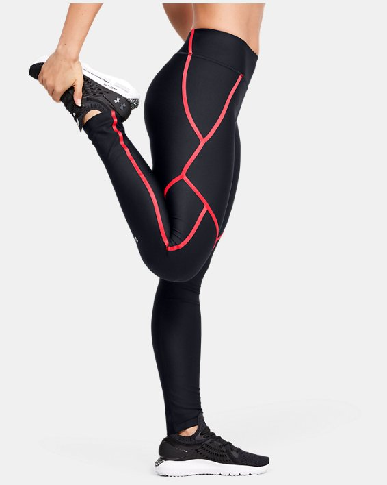 Women's HeatGear® Armour Shine Edgelit Leggings, Black, pdpMainDesktop image number 0