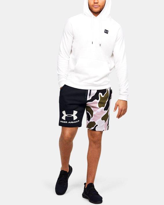Men's UA Rival Fleece Colorblock Camo Shorts, Black, pdpMainDesktop image number 1