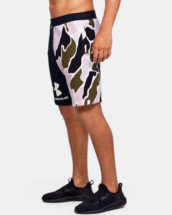 Men's UA Rival Fleece Colorblock Camo Shorts, Black, pdpMainDesktop image number 3