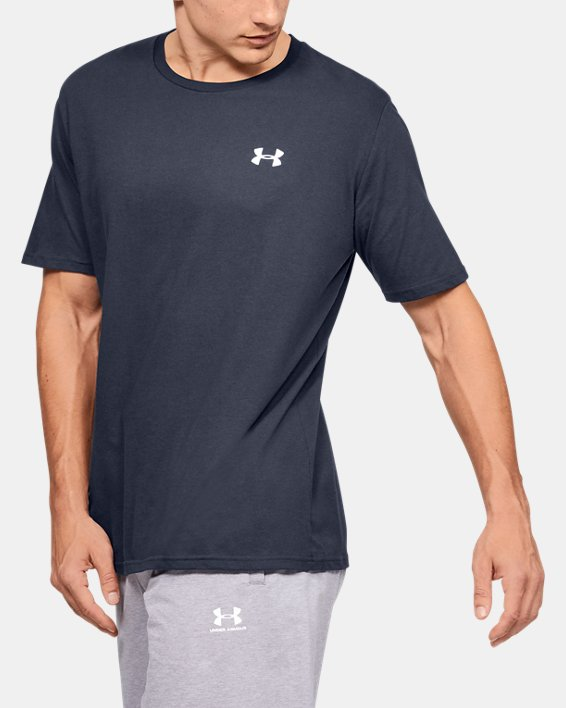 Men's UA Lockup Short Sleeve, Navy, pdpMainDesktop image number 3