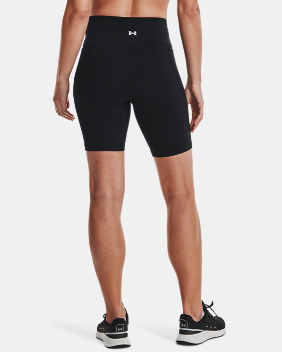 Women's UA Meridian Bike Shorts, Black, pdpMainDesktop image number 2