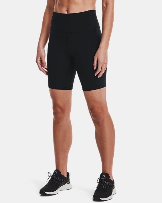 Women's UA Meridian Bike Shorts, Black, pdpMainDesktop image number 2