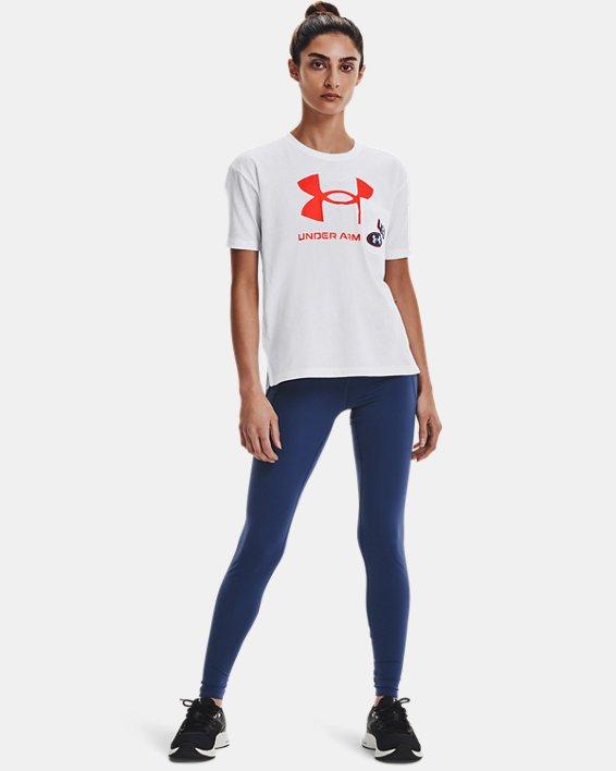 Women's UA Meridian Leggings, Blue, pdpMainDesktop image number 0
