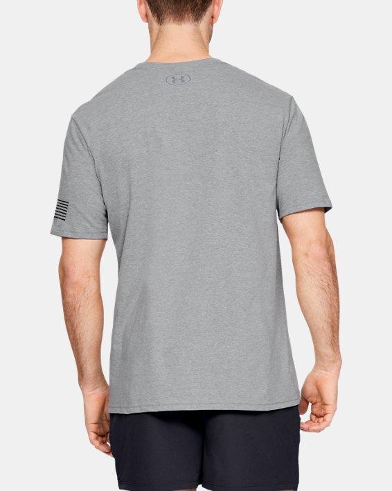 Men's UA Freedom Logo Short Sleeve, Gray, pdpMainDesktop image number 1