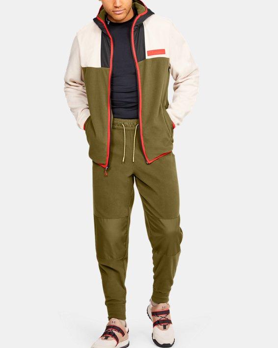 Men's UA Always On Polar Fleece Pants, Green, pdpMainDesktop image number 0