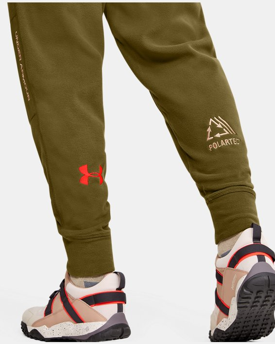 Men's UA Always On Polar Fleece Pants, Green, pdpMainDesktop image number 3