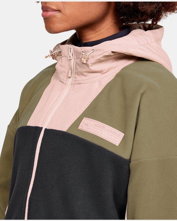 Women's UA Always On Full Zip Polar Fleece Jacket, Gray, pdpMainDesktop image number 6