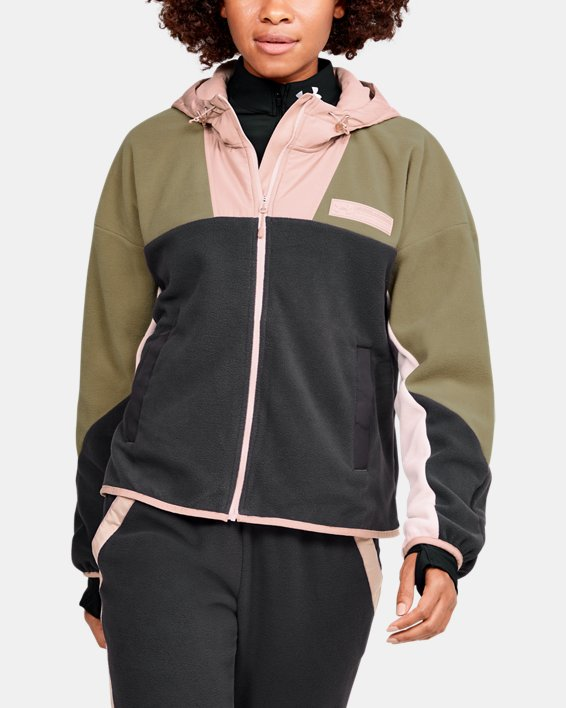 Women's UA Always On Full Zip Polar Fleece Jacket, Gray, pdpMainDesktop image number 0