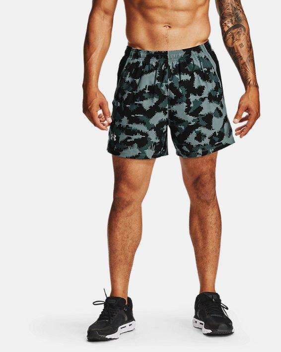 Men's UA Launch SW 5'' Camo Shorts, Black, pdpMainDesktop image number 0