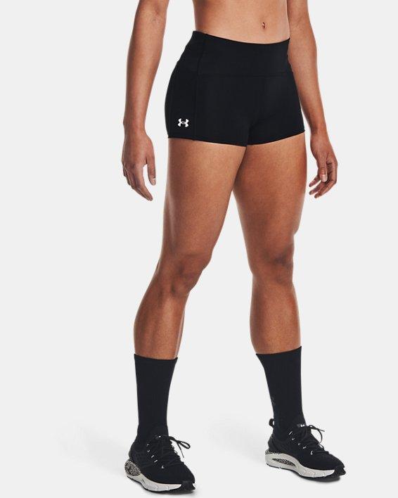 Women's UA Launch Mini Shorts, Black, pdpMainDesktop image number 1