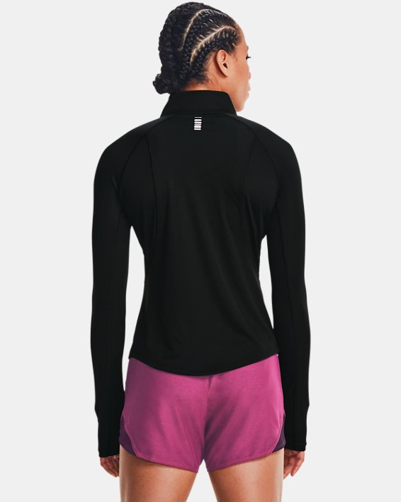 Women's UA Speed Stride Attitude ½ Zip, Black, pdpMainDesktop image number 2