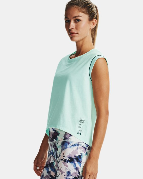 Women's UA Run Anywhere Short Sleeve, Blue, pdpMainDesktop image number 1