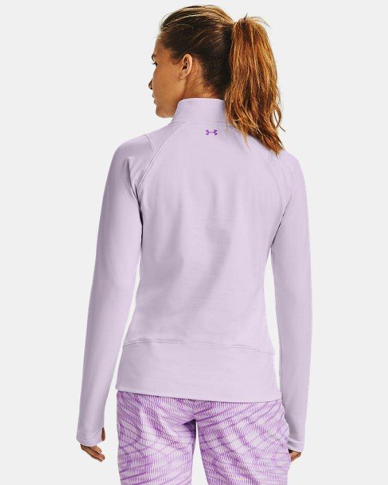 Women's UA Storm Midlayer ½ Zip, Purple, pdpMainDesktop image number 2