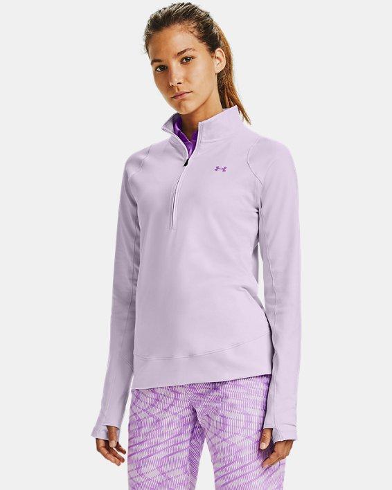 Women's UA Storm Midlayer ½ Zip, Purple, pdpMainDesktop image number 1