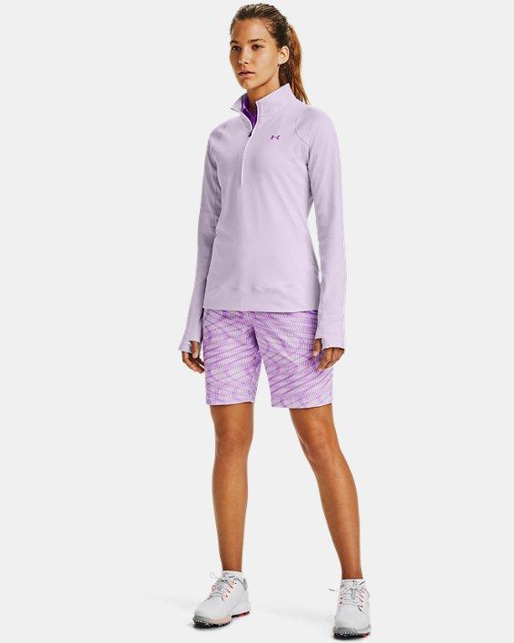 Women's UA Storm Midlayer ½ Zip, Purple, pdpMainDesktop image number 0