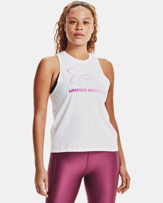 Débardeur UA Sportstyle Graphic pour femme, White, pdpMainDesktop image number 1