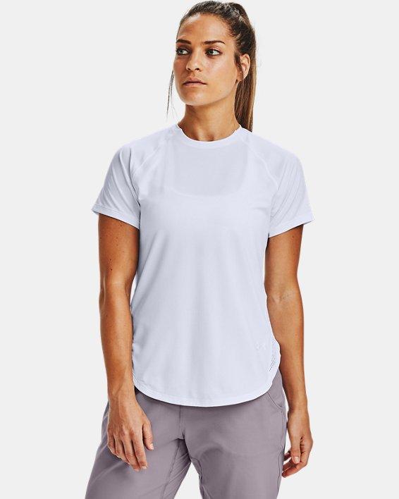 Women's UA Armour Sport Hi-Lo Short Sleeve, White, pdpMainDesktop image number 0