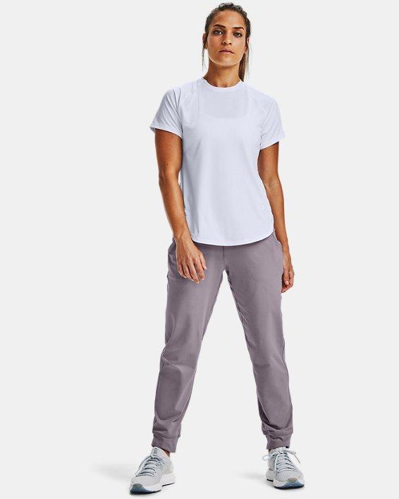 Women's UA Armour Sport Hi-Lo Short Sleeve, White, pdpMainDesktop image number 1